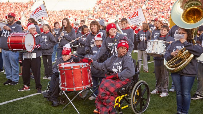 Wausau East High School students play with the Badger Band and VSA Wisconsin on Nov. 12, 2016, in Madison.