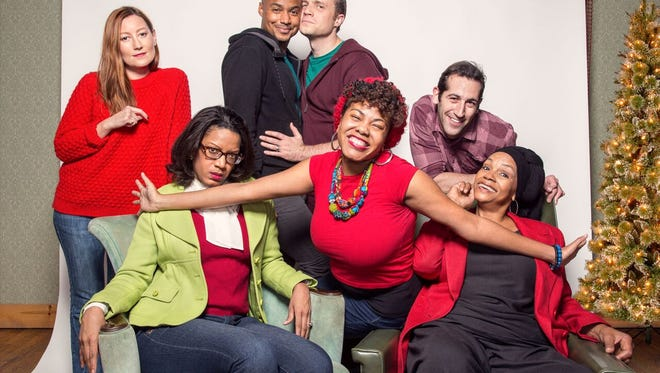 "The cast of Detroit Public Theatre's ""Dot"":  Maggie Meyer, left, Tracey Conyer Lee, Curtis Wiley, Christopher Corporandy, Shawntay Dalon, Artun Kircali and Madelyn Porter."