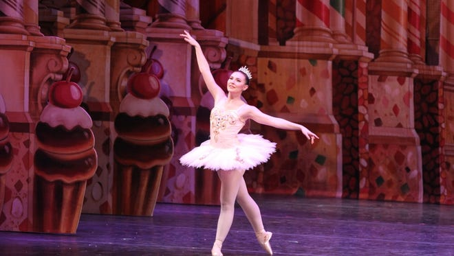 "The Sugar Plum Fairy (Nicolina Lawson) enchants in ""The Nutcracker,"" to be presented Dec. 3 by the Wichita Falls Ballet Theatre."