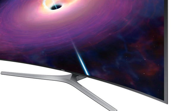 Along with 'quantum dot' display technology on some models, Samsung also offers curved screens up to 88 inches.