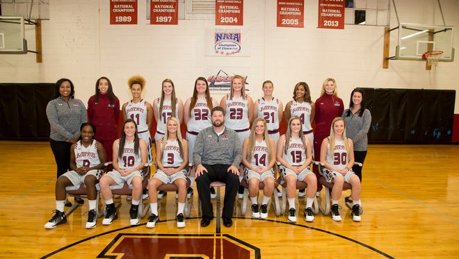 Devan Valko (12) and Madison Valko (30) are in their first season at Rochester College.