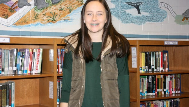 Seneca Middle School eighth-grader Holly Whaley is the local VFW post's winner for the Patriot's Pen essay contest.