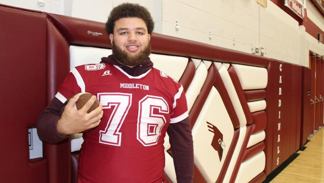 Kayden Lyles, 6-foot-3 and 321 pounds, enrolled early at Wisconsin after spending his senior season at Middleton High School.