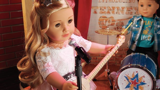 Tenney is a singer-songwriter who plays the banjo and Logan is her drum-playing friend.