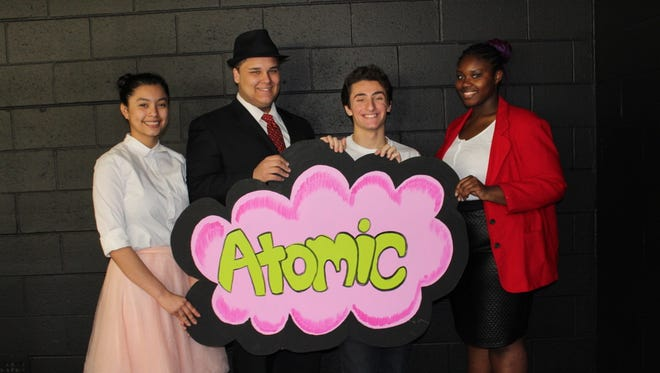 """(From left) Jamie Mejia Turcios, Austin Miller, Christian Bagnati and Dyanna Magee will take the stage at Bridgeton High School for a production of """"Zombie Prom"""" at 7 p.m. March 24 and 25."""