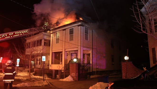 An early morning blaze in Passaic on March 23.