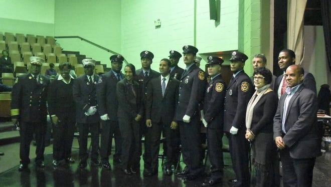 The Mount Vernon Fire Department promoted eight of its members on Friday.