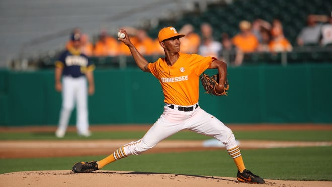 Tennessee pitcher Will Neely matched his career high for innings (seven) and strikeouts (five) Wednesday against East Tennessee State at Smokies Stadium.