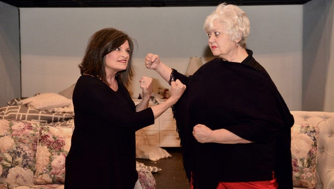 """Abby Binder (Nona Bailey, right) and Marilyn Dunne (Shasta Shaw) are not exactly hitting it off in """"Ripcord,"""" a play that opens 7:30 p.m. May 5 at Backdoor Theatre and runs through May 20."""