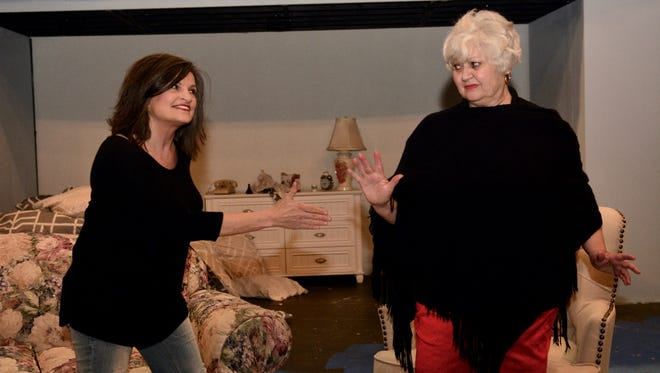 "Shasta Shaw, left, and Nona Bailey star in ""Ripcord"" at Backdoor Theatre."