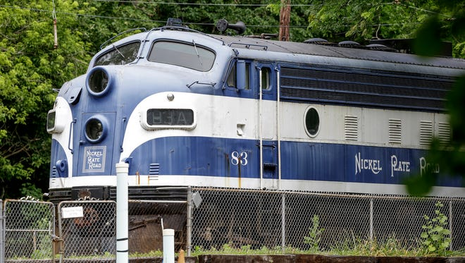 An old train sits inside the train yard of Indiana Transportation Museum in Forest Park in Noblesville, Ind., on Wednesday, June 7, 2017.