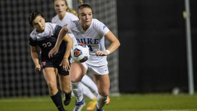 Okemos grad Ashton Miller was taken by the Boston Breakers in the National Women's Soccer League draft.