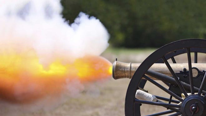 Civil War-era replica cannon.