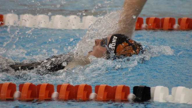 Brighton's Olivia Anderson placed second in the backstroke to help the Bulldogs to a third-place finish at the KLAA Conference Championships on Saturday.
