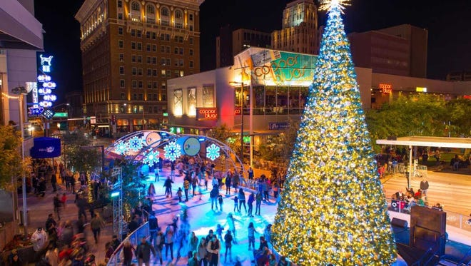 CitySkate begins its seven-week run in Phoenix with an ice rink, a 30-foot-tall holiday tree and thousands of twinkling lights.