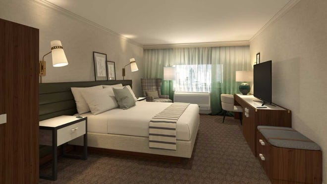 Renovations at the Country Springs Hotel will include new fixtures and furnishings in the guest rooms.