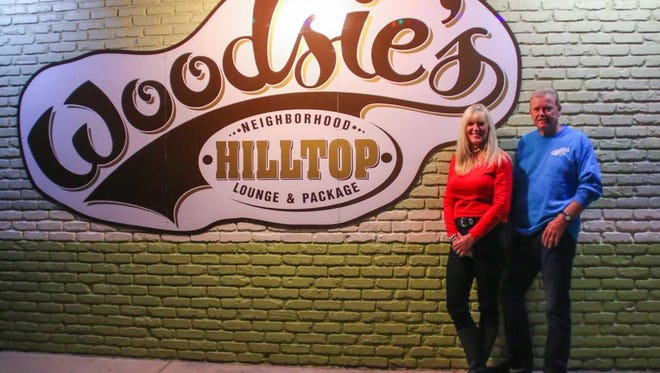 Melissa and Stan Woods are owners of Woodsie's Hilltop Lounge on Mobile Highway.