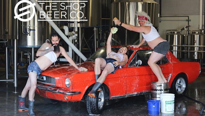 """Arizona breweries have created the """"Beerdoir"""" calendar to raise money for charity. The Shop Beer Co. is featured for February 2018."""
