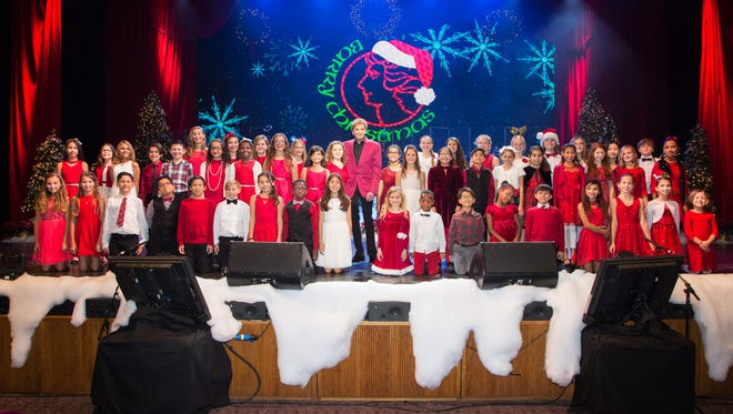 Students from Washington Charter School in Palm Desert have performed with Barry Manilow.