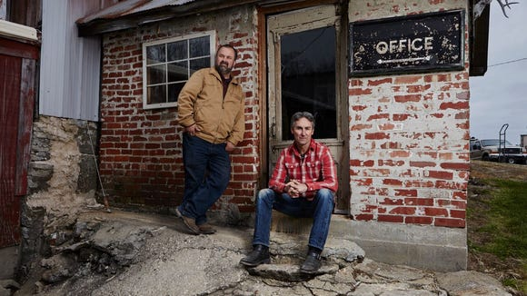 "Mike Wolfe and Frank Fitz of ""American Pickers."""