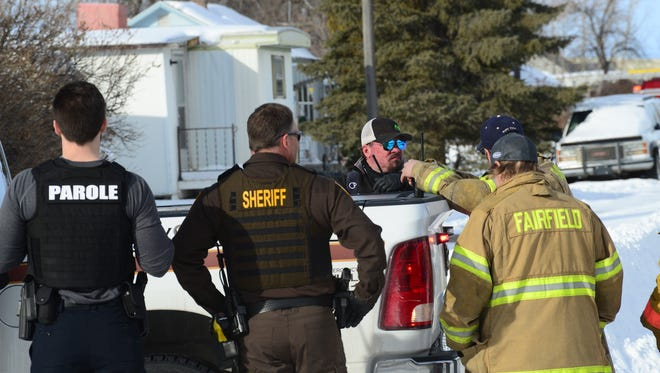 On Feb. 16, law enforcement agencies along with the Fairfield Volunteer Fire Department secured 3rd Street North in Fairfield.