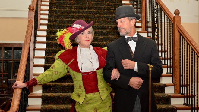 """Susan Mansur Bahr and Keith Pond in """"Hello, Dolly!"""" opening at 7:30 p.m. Friday April 6 and Saturday April 7 at the Wichita Theatre. The musical continues Fridays and Saturdays through April 28. There are 2 p.m. matinees on April 14, 21 and 28."""