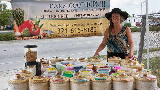 Karen McCauley sells her Darn Good Dips at farmers markets and events across Brevard.