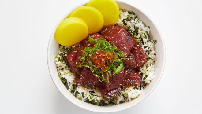 Tuna poke bowl at Little Bear Poke, set to open later this month