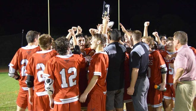 The James M. Bennett boys lacrosse team won its first conference title since 2000 on Monday night.