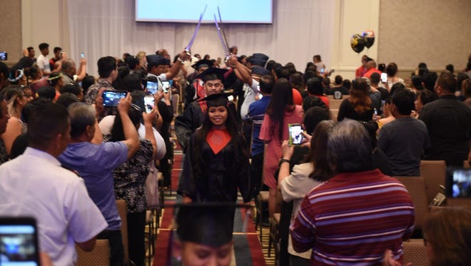 The J.P. Torres Success Academy held its commencement ceremony May 31, 2018 at the Sheraton Laguna Guam Resort. According to Principal Dexter Fullo there were 65 graduates celebrated.