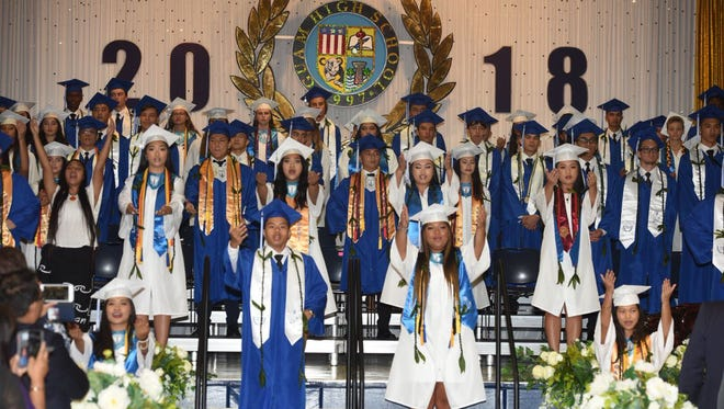 Guam High School held its commencement ceremony Friday, June 8, at the school's gym, with 71 Panthers turning their tassels.