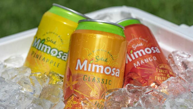 Soleil Mimosa varieties include classic, mango and pineapple, and they are now available in 12-ounce cans.