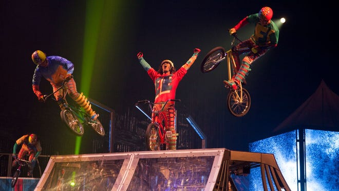 The new Cirque du Soleil production VOLTA is appearing at the Big Top in the Greater Philadelphia Expo Center in Oaks, Penn., which is just minutes from the King of Prussia Mall.