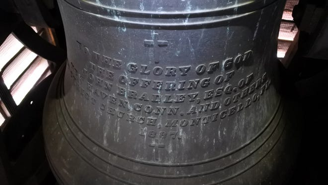 The bell at Christ Episcopal Church was hung in the bell tower in 1887.