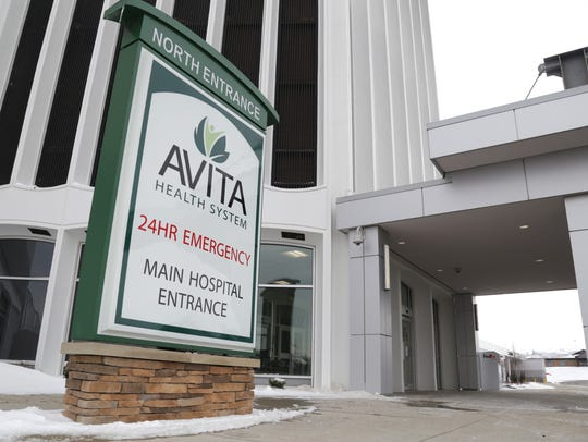The emergency entrance of the new Avita Health hospital