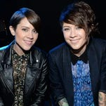 Sara Quin (left) and Tegan Quin of Tegan and Sara will perform Oct. 20 at the Pabst Theater. Tickets go on sale at 9 a.m. Friday.