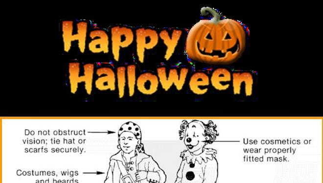 The Fire Marshal's Office released this image for Halloween costume safety.