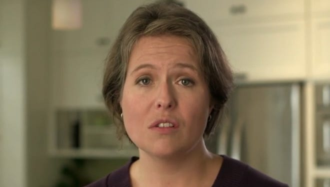 Erin Forrest in the TV ad for Democratic gubernatorial candidate Mary Burke.