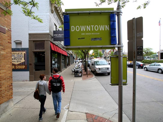 The area around Google in downtown Ann Arbor has seen