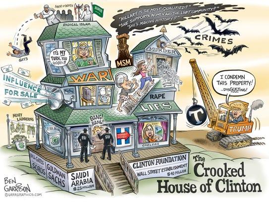 A political cartoon drawn by Ben Garrison, who said