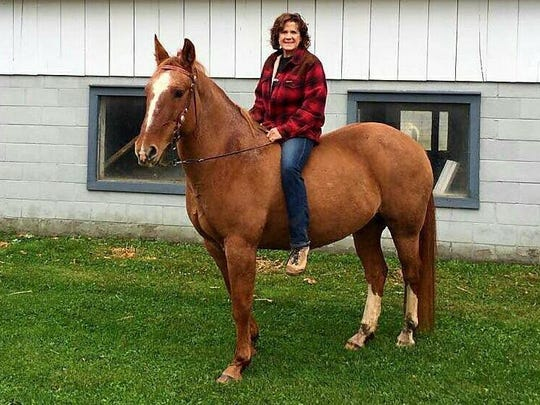 Tari Blank enjoyed going on organized trail rides with her horses.