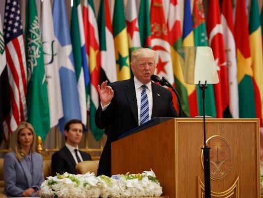 Image result for photos of trump in saudi arabia