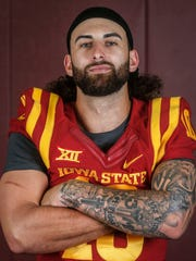 Iowa State junior quarterback Jacob Park poses for