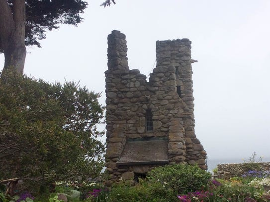 The poet Robinson Jeffers built Hawk Tower on the coast