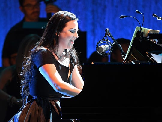 Amy Lee of Evanescence performs at The Pearl concert