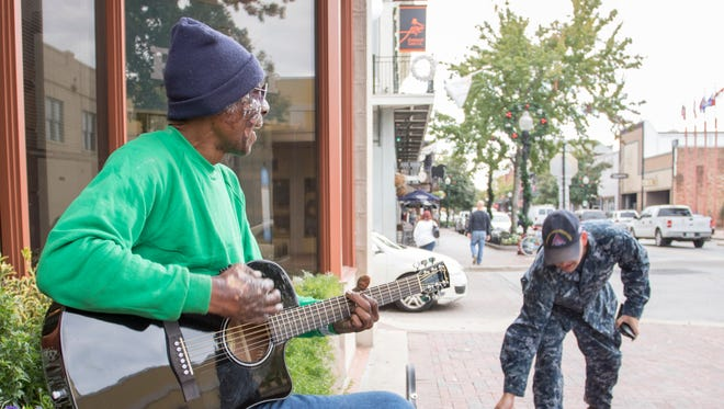 Street musician Maurice Sorrell is a staple in downtown Pensacola.