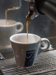 The espresso is made from a machine imported from Italy.