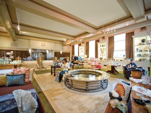 A renovated Art Deco bank building in Bay Shore, N.Y., is now home to the popular Drew Patrick Spa.