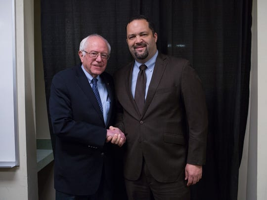 Ben Jealous, former head of the NAACP, endorsed Bernie Sanders on Friday. Jealous said Sanders was a leader in the vein of MLK.