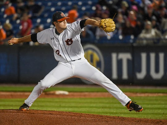 Casey Mize Auburn baseball vs Ole Miss on Tuesday,